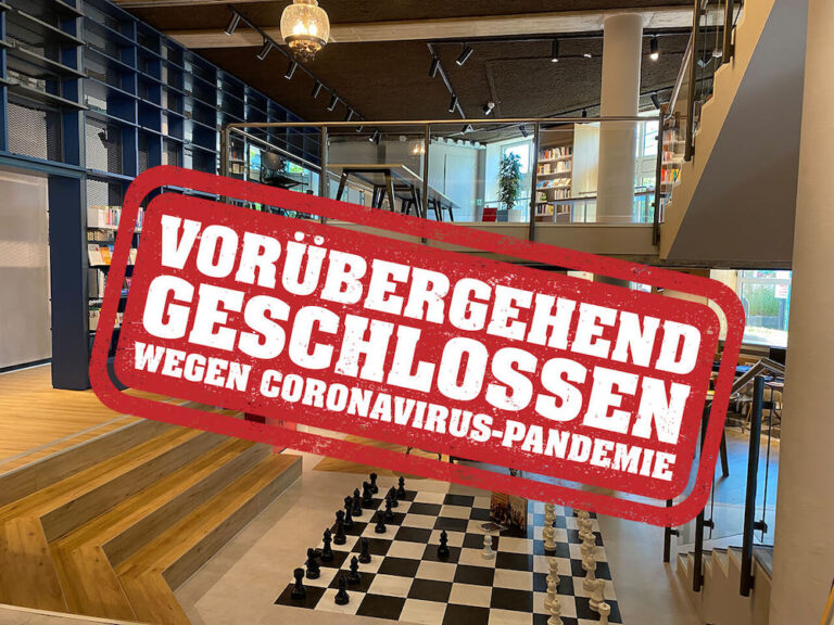 Bücherei geschlossen wegen Corona