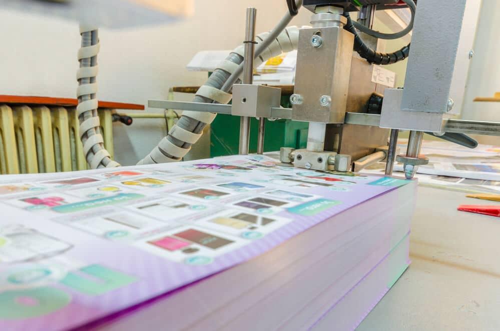 Druckerei in Langenfeld - Druck-Service Fries Druckvorgang