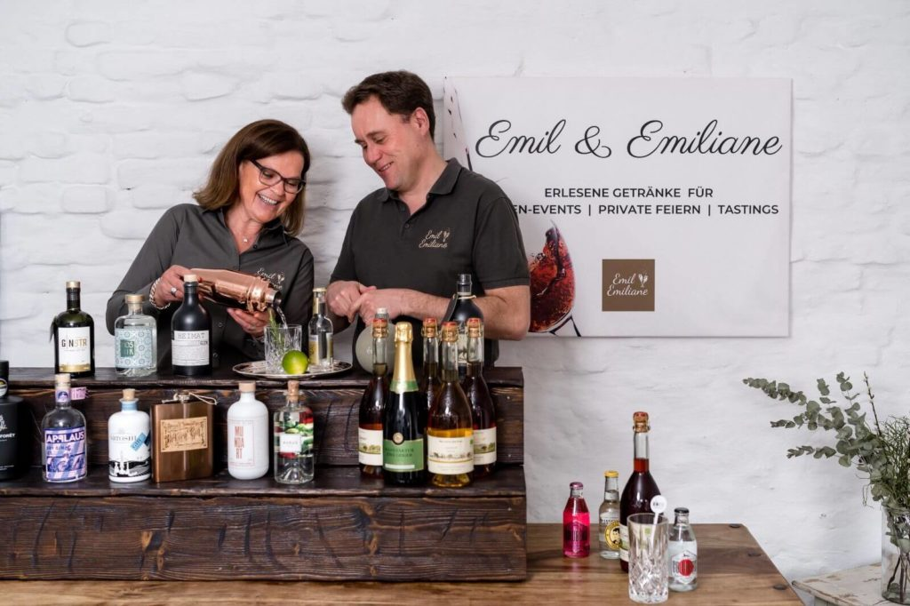 Emil & Emiliane Firmen Events Tastings Private Feiern in Langenfeld - Eventbar