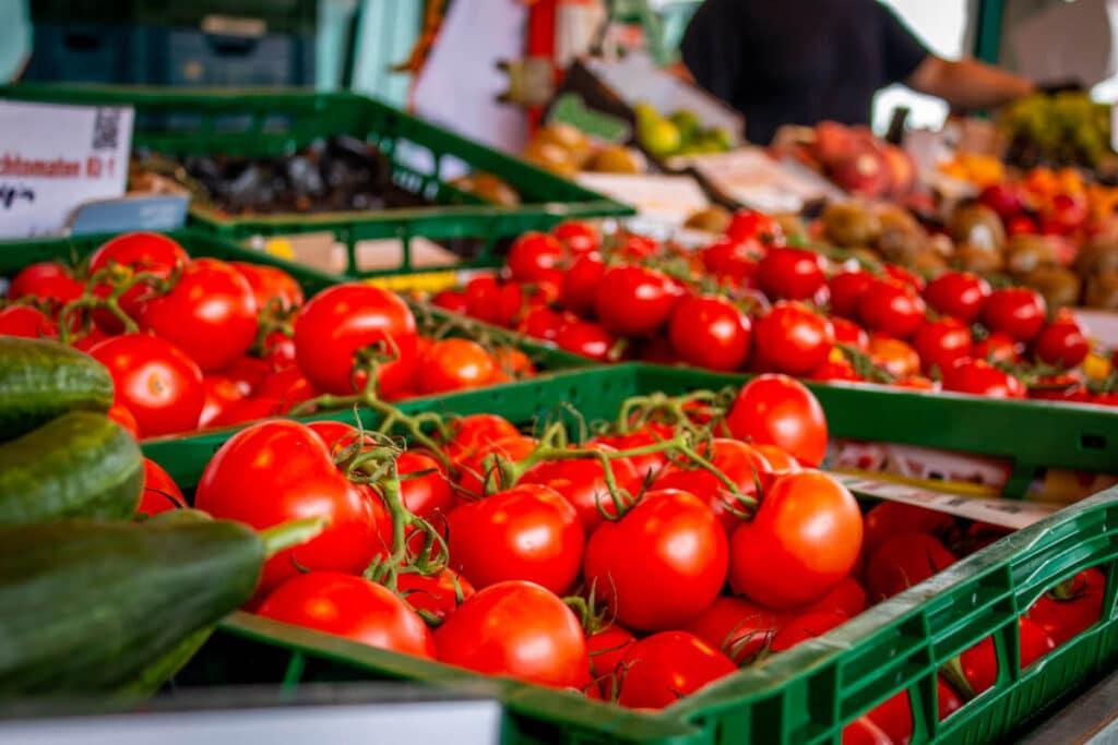 Marktstand Früchte Schultk Langenfelder Wochenmarkt Bild 14