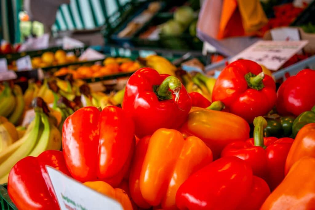 Marktstand Früchte Schultk Langenfelder Wochenmarkt Bild 13