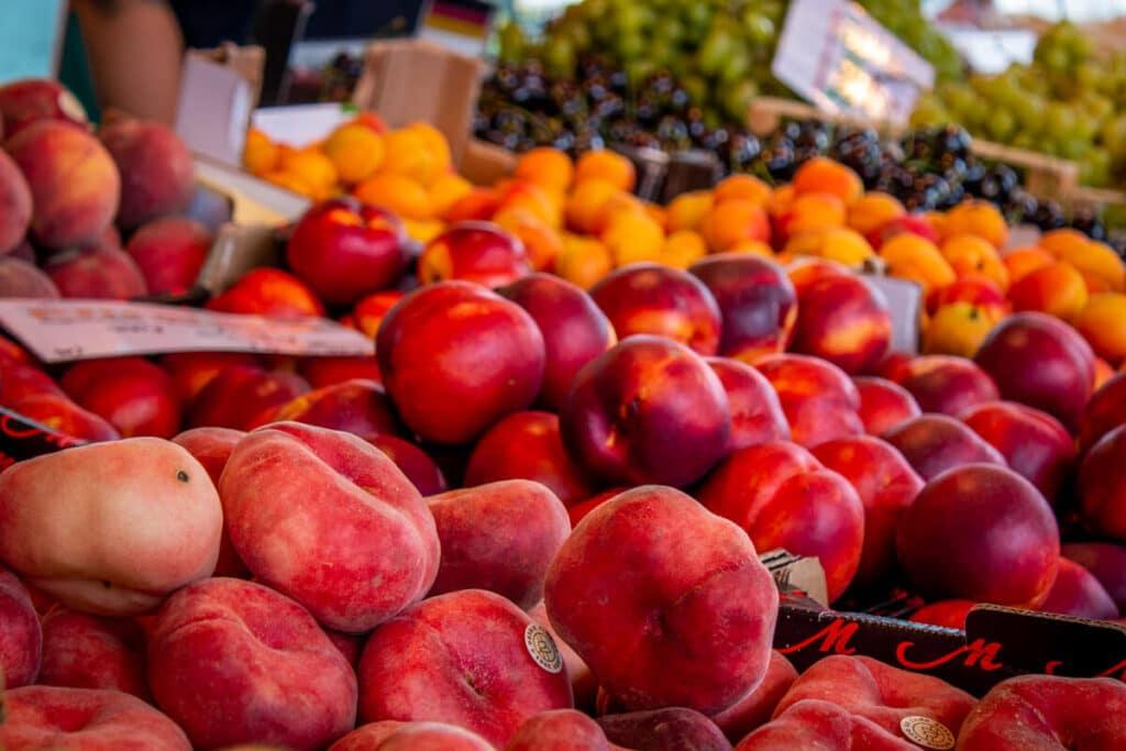 Marktstand Früchte Schultk Langenfelder Wochenmarkt Bild 11