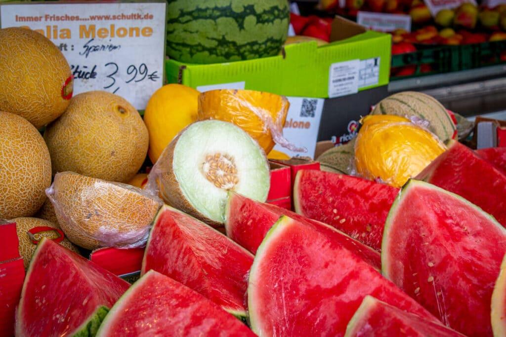 Marktstand Früchte Schultk Langenfelder Wochenmarkt Bild 4