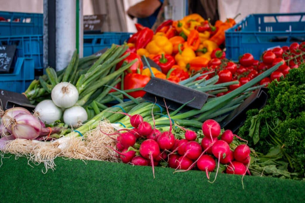 Marktstand Gärtnerei Baum Langenfelder Wochenmarkt Bild 17