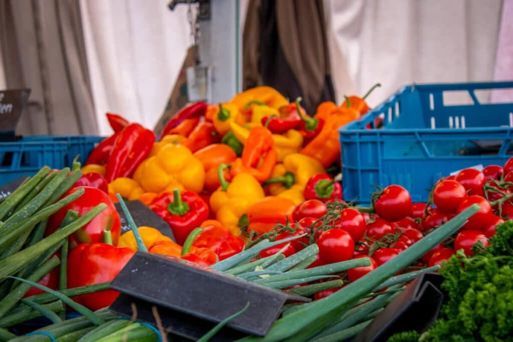 Marktstand Gärtnerei Baum Langenfelder Wochenmarkt Bild 16
