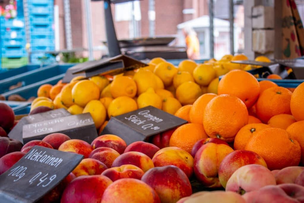 Marktstand Gärtnerei Baum Langenfelder Wochenmarkt Bild 13