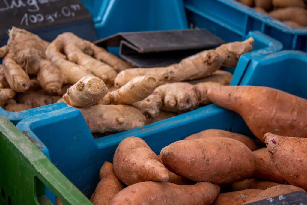 Marktstand Gärtnerei Baum Langenfelder Wochenmarkt Bild 10