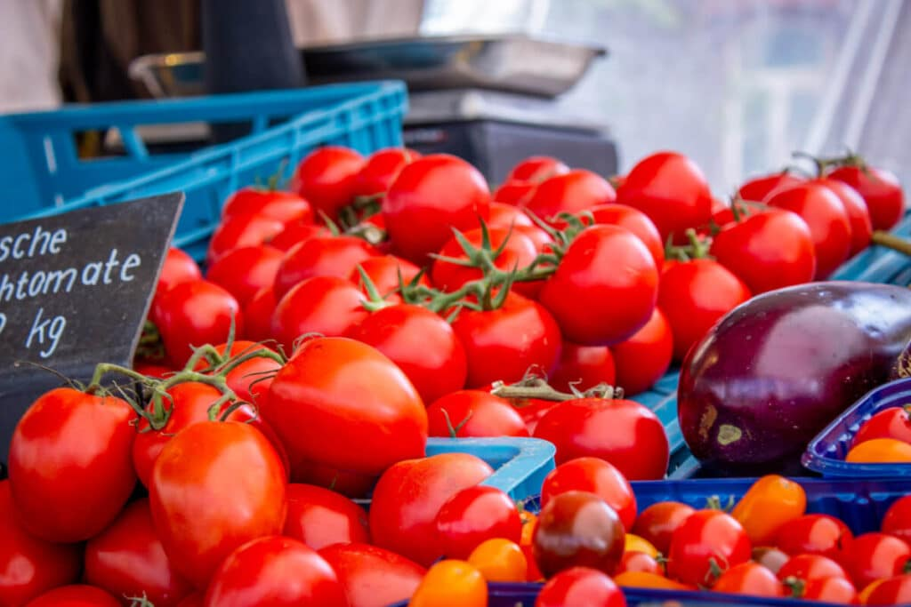 Marktstand Gärtnerei Baum Langenfelder Wochenmarkt Bild 6