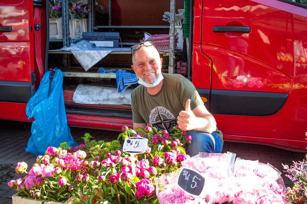 Marktstand Holländische Blumen Langenfelder Wochenmarkt Bild 1