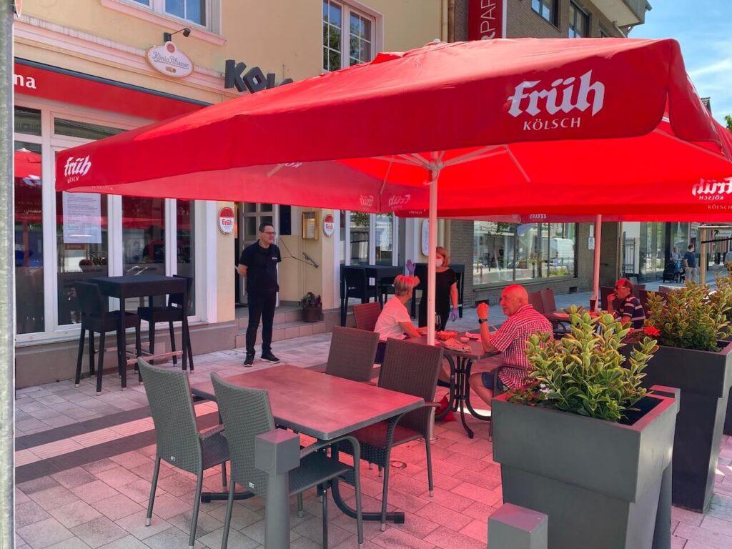 Taverna Kolossos - mediterrane Küche Langenfeld - Aussenterrasse