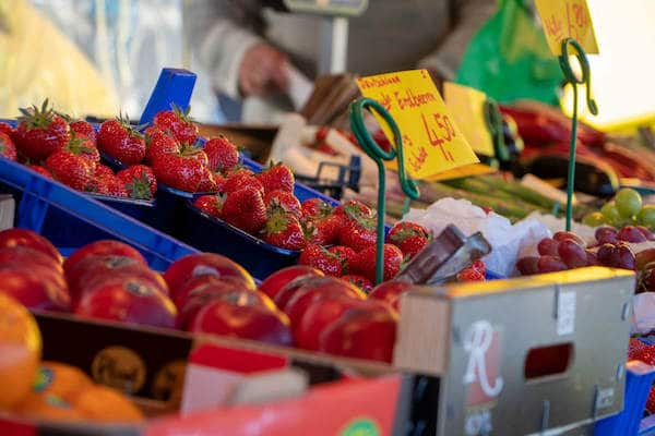 Marktstand Obst Gemüse Becker Langenfelder Wochenmarkt Bild 9