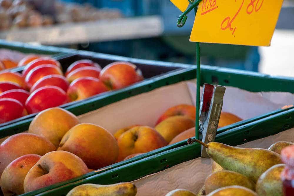 Marktstand Obst Gemüse Becker Langenfelder Wochenmarkt Bild 5