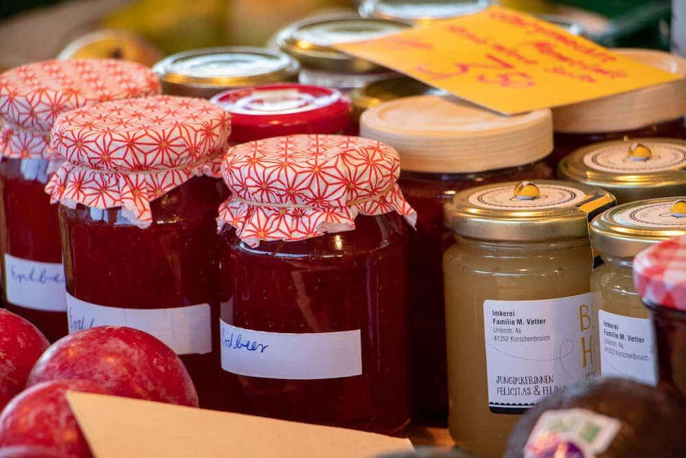 Marktstand Obst Gemüse Becker Langenfelder Wochenmarkt Bild 4