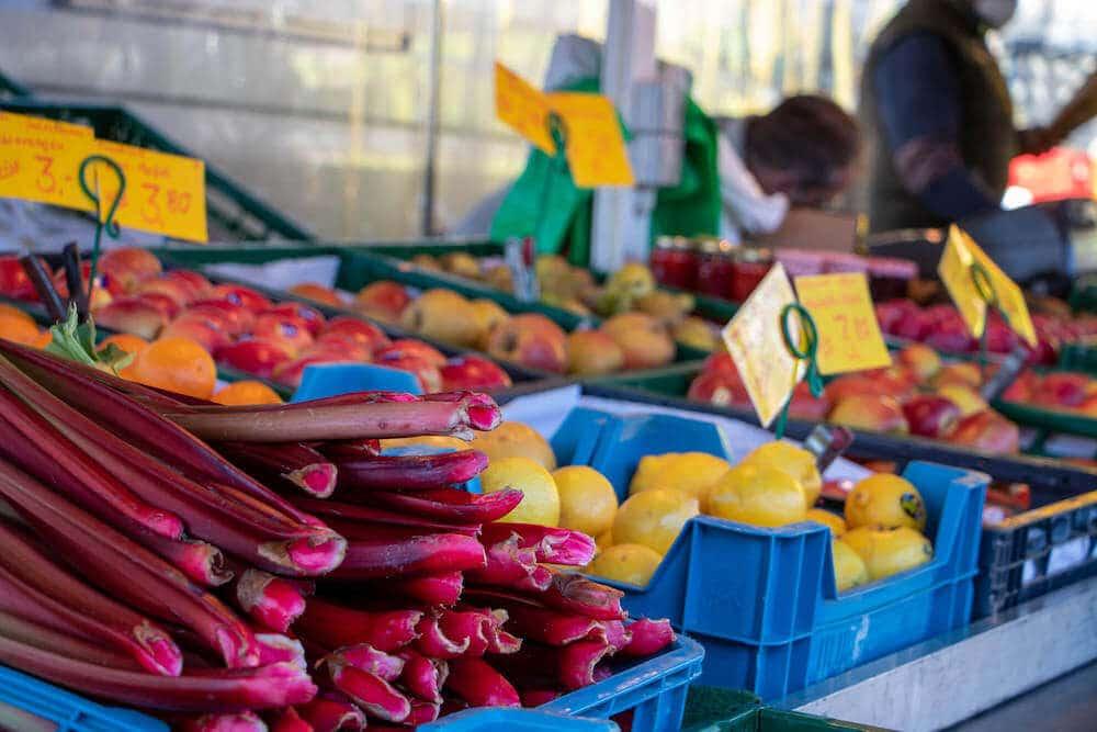 Marktstand Obst Gemüse Becker Langenfelder Wochenmarkt Bild 3
