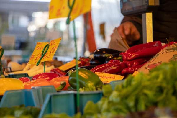 Marktstand Obst Gemüse Becker Langenfelder Wochenmarkt Bild 8