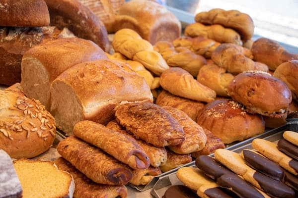 Marktstand Niederrheinische Landbäckerei Berns auf dem Langenfelder Wochenmarkt 5