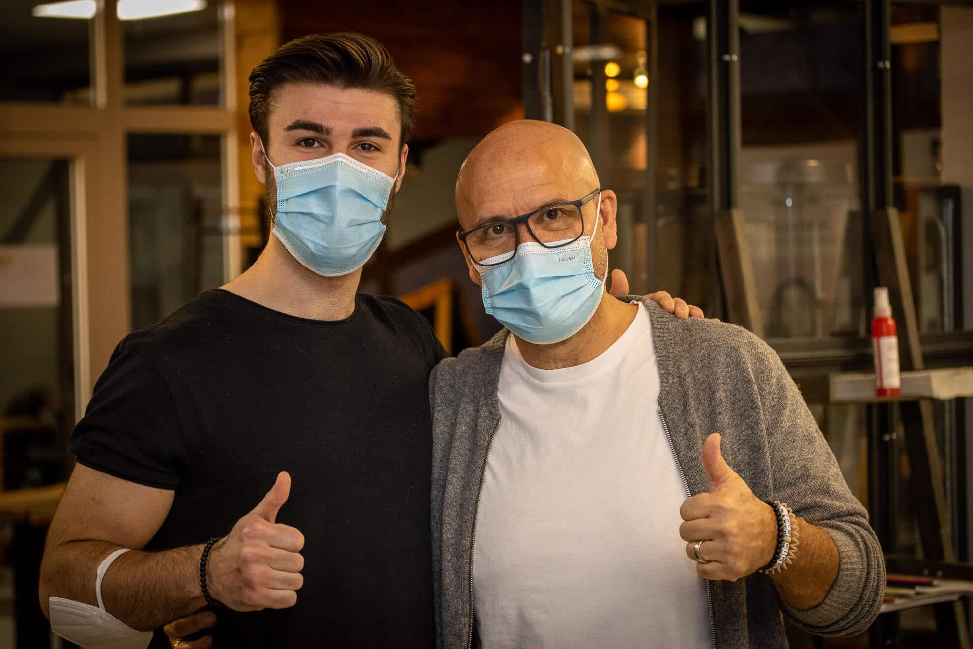 Franco und Sohn im Salon Vicari Langenfeld