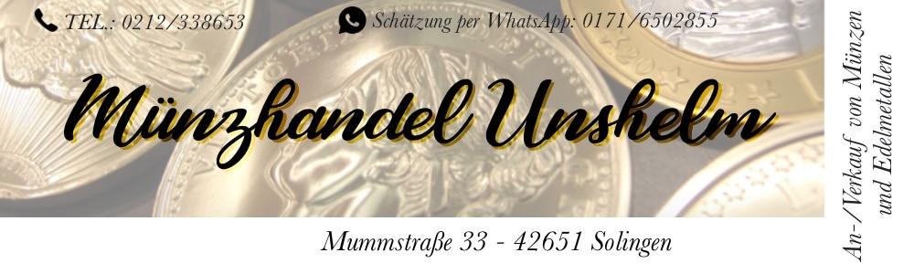 Anzeige Muenzhandel Unselm Solingen auf lfelder.de