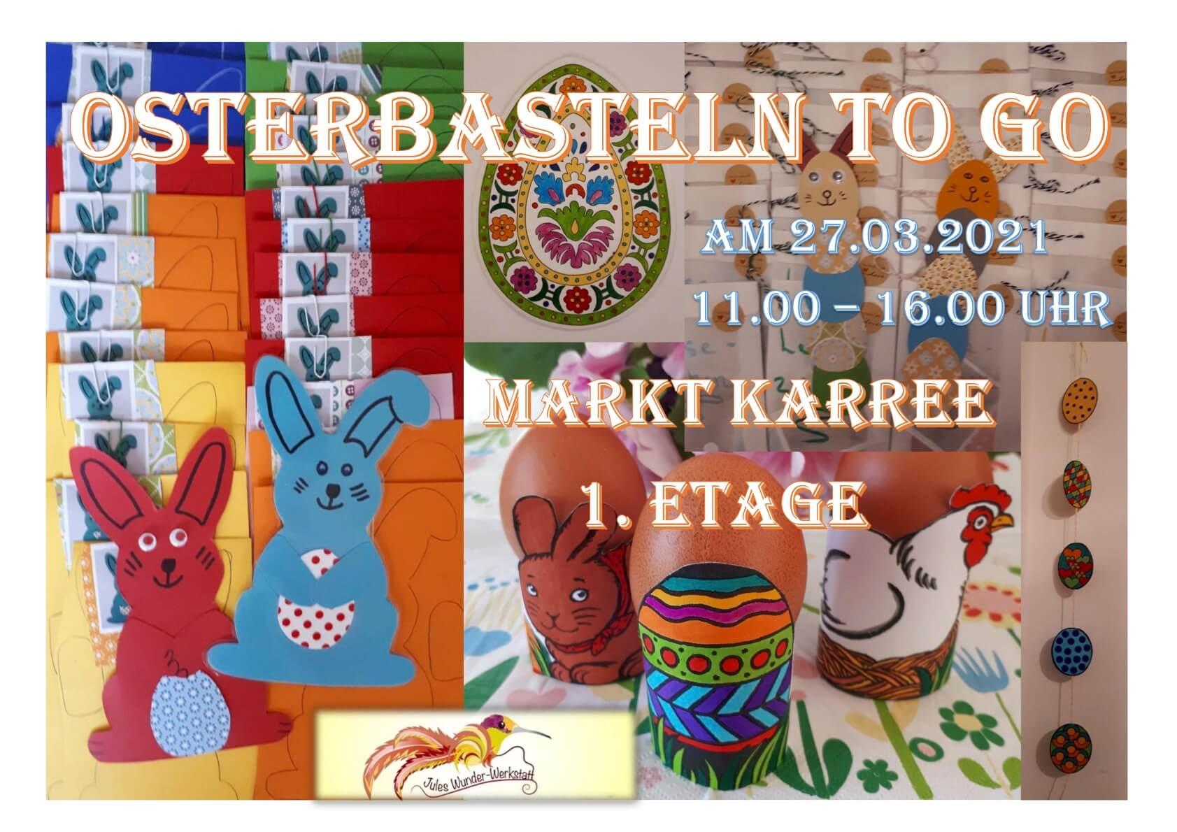 Ostern basteln Bastelvorlage Osterhase Osterei Jules Wunder-Werkstatt Langenfeld