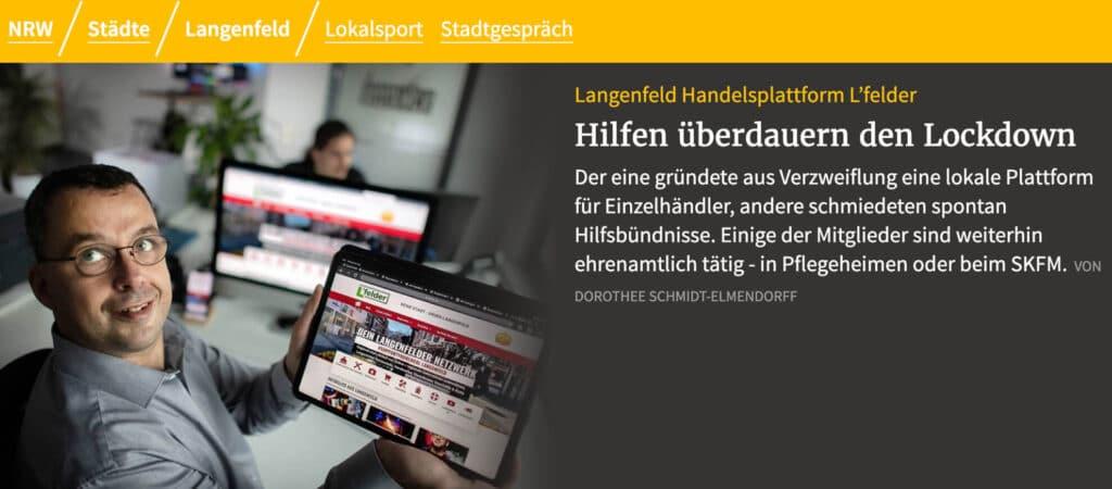 L'Felder - Deine Stadt - unser Langenfeld - RP online Artikel