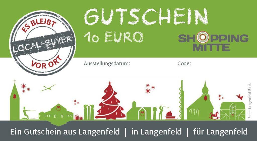 Gutschein Shoppingmitte Langenfeld Weihnachten 2020