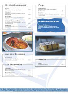 Spesekarte Restaurant Kolossos Langenfeld