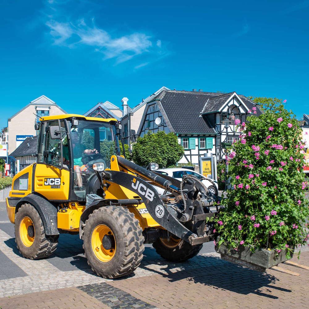 ShoppingMitte Langenfeld Blumen in der Stadt