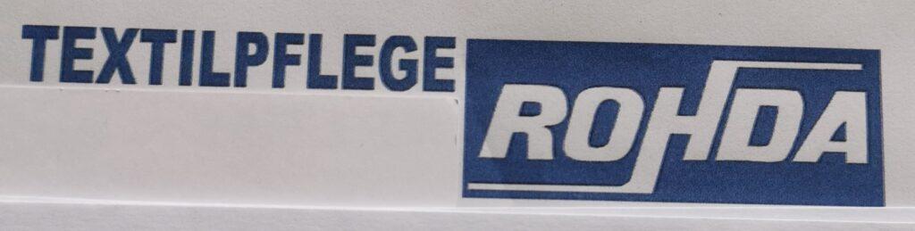 Textilpflege Rohda Logo