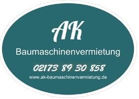 Logo AK Baumaschinenvermietung Langenfeld auf lfelder.de