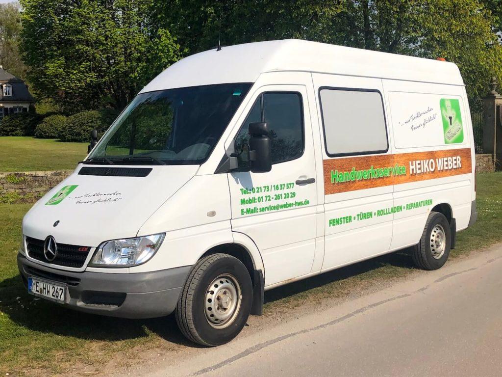 Handwerker Profi für Böden & Terrassen | Heiko Weber Firmenwagen