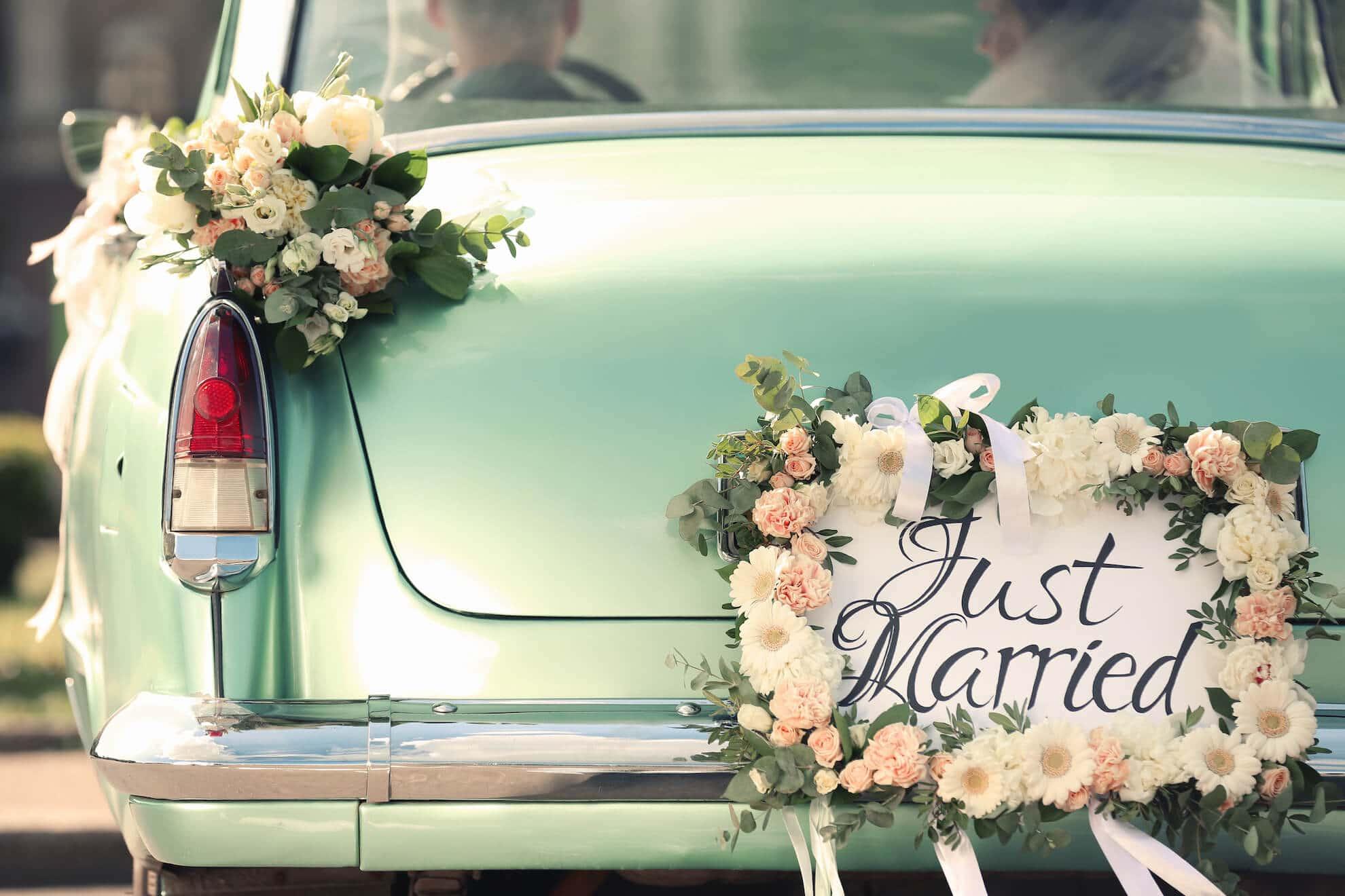 Heiraten Just married Auto in Langenfeld