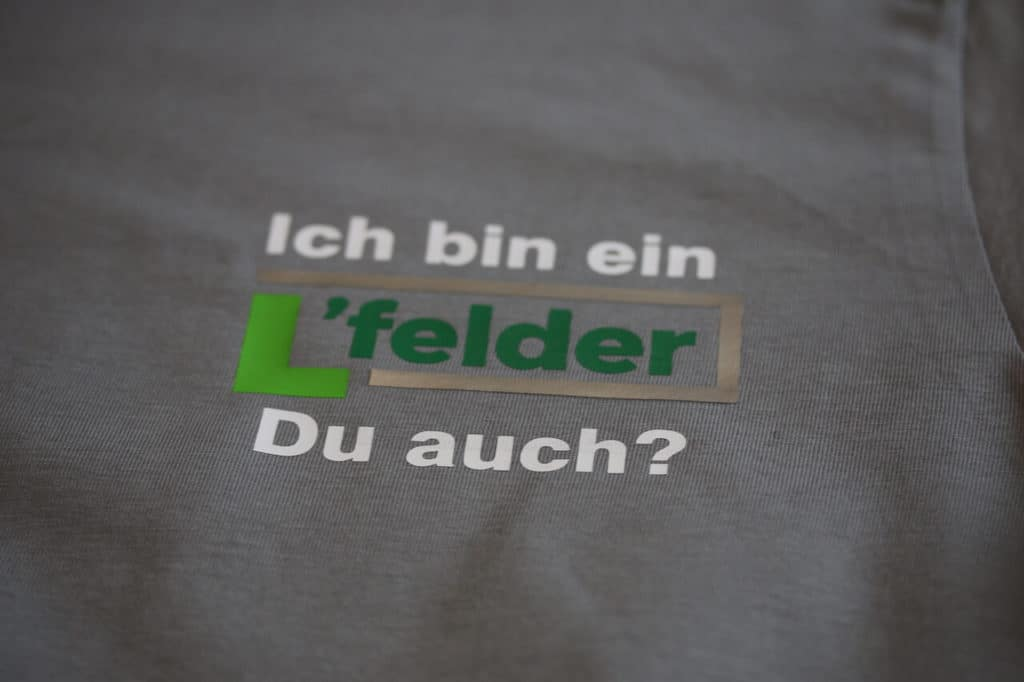 BS Werbeartikel Langenfeld T-Shirt Druck