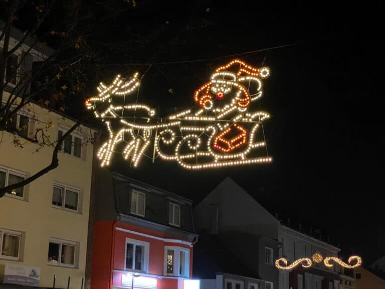 Weihnachtsbeleuchtung in Langenfeld