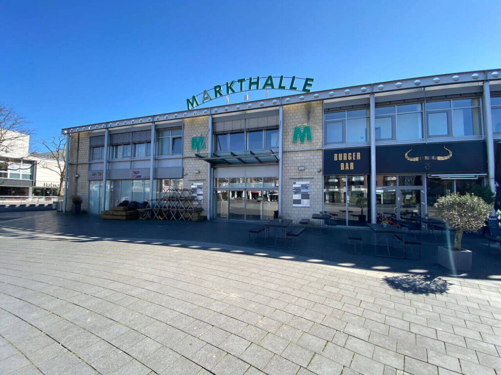Markthalle Langenfeld Spaziergang Ostern Kunden WC Toilette