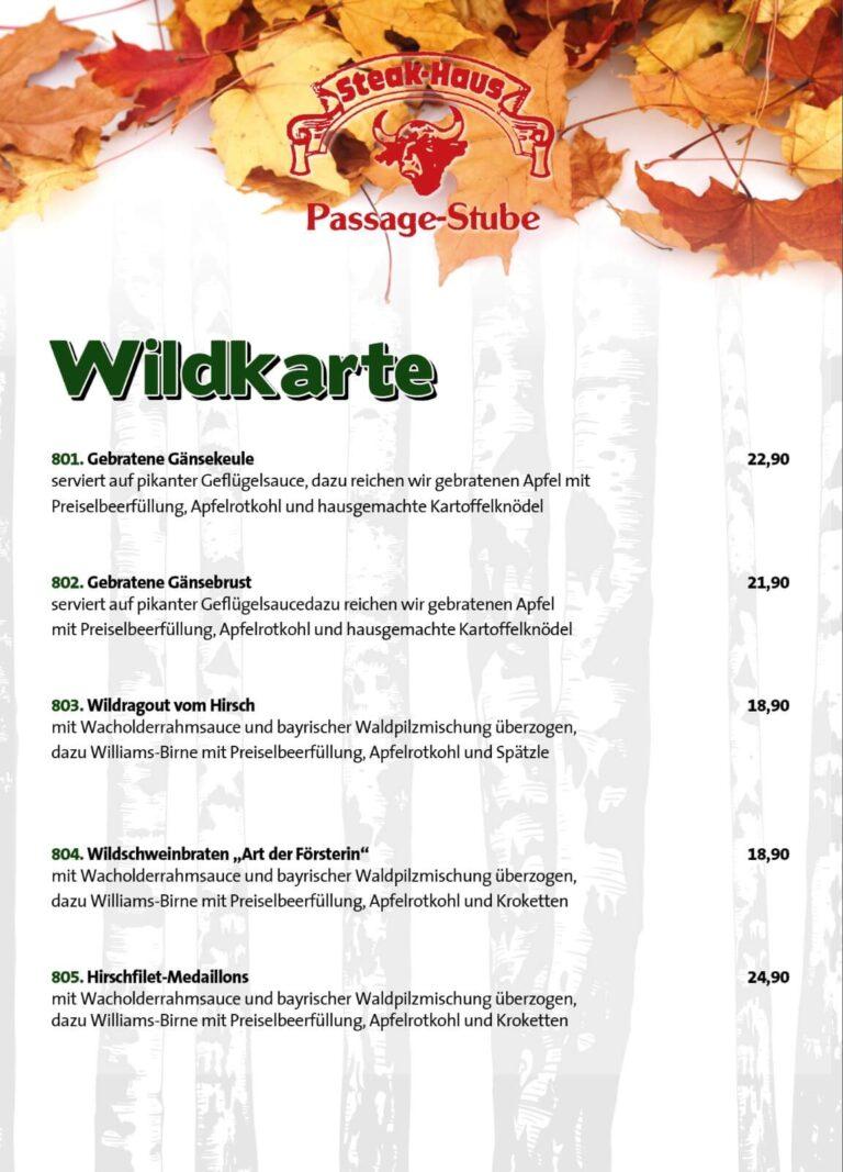 Wildkarte Winter 2020 Passage Stube Langenfeld